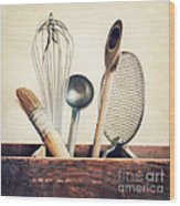 Kitchenware Wood Print