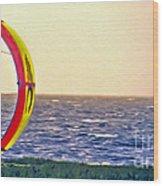 Kite Boarder 2 Wood Print