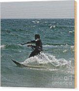 Kite Boarding Fun  Wood Print