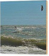 Kite Boarding Hatteras 3 8/24 Wood Print