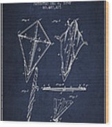 Kite Patent From 1892 Wood Print by Aged Pixel