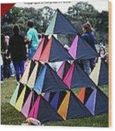Kite Show Wood Print