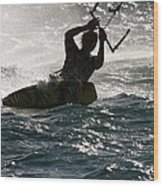 Kite Surfer 02 Wood Print
