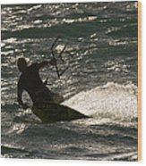 Kite Surfer 03 Wood Print by Rick Piper Photography
