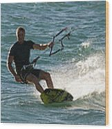 Kite Surfer 05 Wood Print