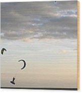 Kite Surfing On Sanibel  Wood Print