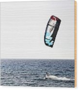 Kiteboarding Wood Print