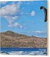 Kitesurfer 02 Wood Print by Antony McAulay