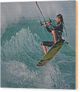 Kiting Los Lances Wood Print