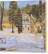 Kittattiny Park Ranger Residence Wood Print