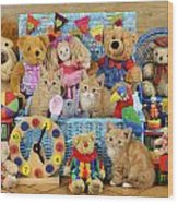 Kitten Dress Box Ck526 Wood Print