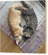 Kitty Love Wood Print