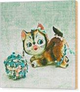 Kitty Mischief Wood Print