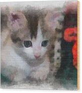 Kitty Photo Art 01 Wood Print