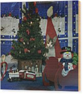 Kitty Says Merry Xmas Wood Print