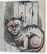 Kitty Sly Wood Print