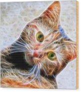 Kitty Strange Wood Print