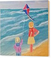 Kity Fly Wood Print