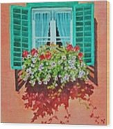 Kitzbuhel Window Wood Print
