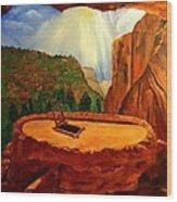 Kiva In Bandelier National Monument Wood Print