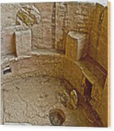 Kiva With Sipapu In Spruce Tree House On Chapin Mesa In Mesa Verde National Park-colorado Wood Print