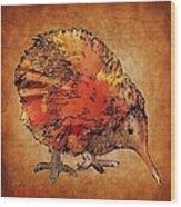 Kiwi Bird Wood Print