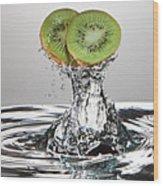 Kiwi Freshsplash Wood Print