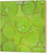 Kiwi Lemon Orange Wood Print