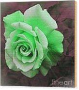 Kiwi Lime Rose Wood Print