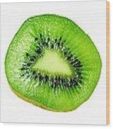 Kiwi On White Wood Print