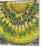 Kiwi Slice Wood Print