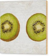 Kiwi Slices Wood Print by Danny Smythe