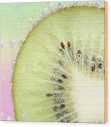Kiwi Splash Wood Print