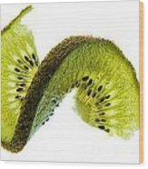 Kiwi With A Twist Wood Print
