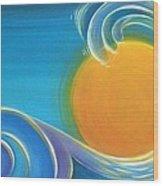 Kiwiana Surf Sun Wood Print