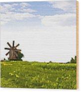 Kizhi Island Windmill Russia Wood Print