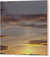 Klamath Golden Sunset Wood Print