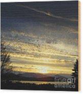 Klamath Lake Sunset Wood Print