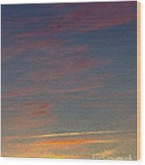 Klamath Summer Sunset Wood Print