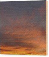Klamath Sunset Of Fire Wood Print