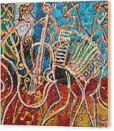 Klezmer Music Band Wood Print