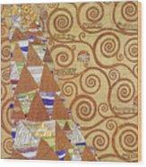 Klimt Expectation Wood Print