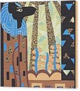 Klimt's Paper Anubis Wood Print
