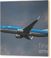 Klm Boeing 737 Ng Wood Print
