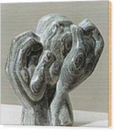 Kneading Hands Wood Print