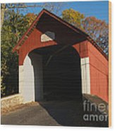 Knecht's Covered Bridge In October In Bucks County Pa Wood Print