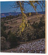 Kneeland Moonrise Wood Print