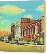 Knepp's And Kresge's Stores On Washington Av. In Bay City Mi 1940 Wood Print