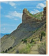 Knife Edge Road Overlooking Montezuma Valley In Mesa Verde National Park-colorado  Wood Print