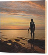Knight At Sunrise Wood Print